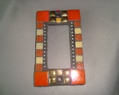 MOSAIC Outlet Cover or Switch Plate, GFI Decora, Wall Art, Wall Plate, Orange, Gold, Beige, Pumpkin, Gray