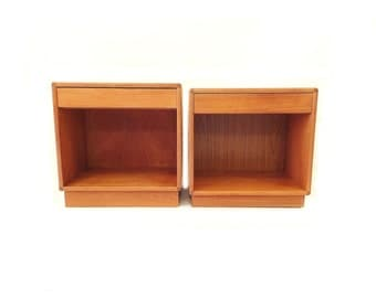 Vintage Danish Modern End Tables In Teak