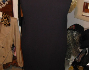 60's LBD Party Dress  Fortuny Pleated Crepe Dress  Size 12