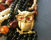 Owl Brooch, Owl Pin, Owl Jewelry, Gold Owl Glasses, Owl Accessories, Owl Gifts For Owl Lovers, Sarah Coventry Jewelry, Gifts For Teachers