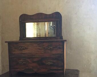 Childs toy dresser | wood |1950s
