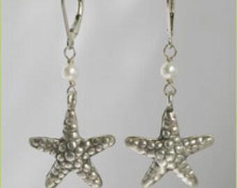 Starfish & Pearl Earrings