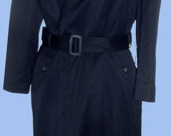 """Ladies William Wallace """"The Briton"""" Trench/Raincoat Navy Thinsulate SZ 2 P"""