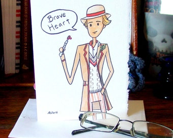 Doctor Who Card - Fifth Doctor - Brave Heart - Peter Davison