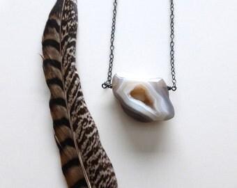 Long druzy necklace, Druzy Quartz Necklace, Layering necklace, long Boho Necklace, Bohemian Jewelry, Druzy Pendant, Druzy Jewelry