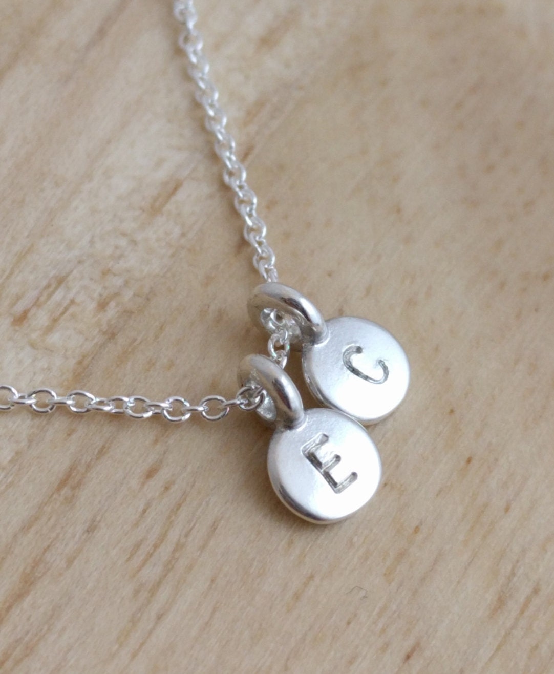 initial necklace silver dainty necklace initials