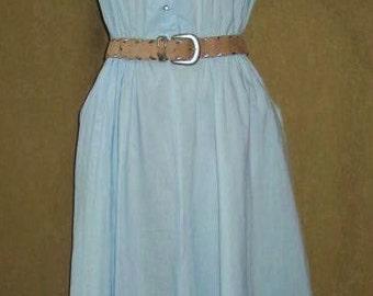 50s Rockabilly Dress Full Skirt Vintage L