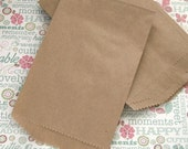 Plain Kraft Brown paper bags Middy Bitty Bags