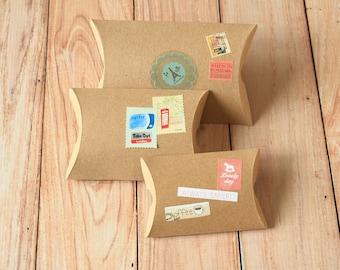 Plain Kraft Brown DIY pillow boxes