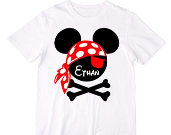 Personalized Pirate Mouse Ears Shirt or Bodysuit - Personalized with ANY name!