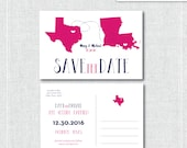"""Your home States Postcard 4""""x6"""", 5x7 Card or Magnet Save the Dates (Your State or Country)"""