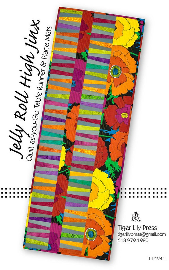 Jelly Roll High Jinx Table Runner and Placemats Pattern