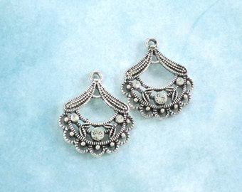 Swarovski Crystal Chandeliers / Lot of 2 / Jewelry Making Supply / Earring Components / Beading Supply