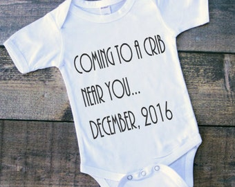 Pregnancy Announcement -Coming to a crib near you -  Grandparent announcement - Baby Announcement - pregnancy announce- baby reveal gift