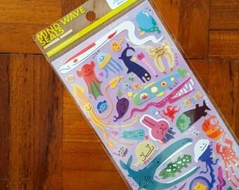 sea creatures - MIND WAVE stickers