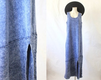 overdyed indigo tank dress