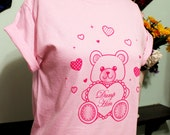 Valentine Bear Dump Him T-Shirt in Pink on Pink - S-5X Ready To Ship