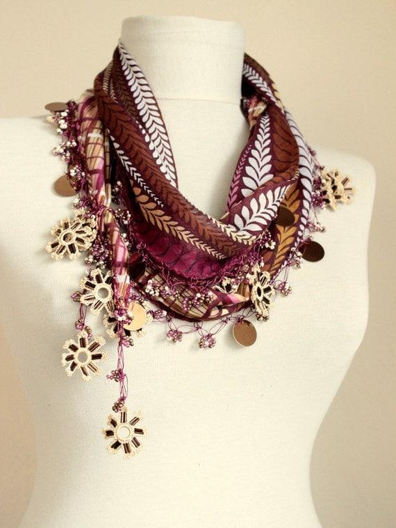 turkish scarves oya scarf scarf fashion floral scarf