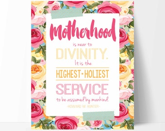 Mother's Day Printable/Card-Mother's Day Handout-Mother's Day Card-Instant Download-Multiple Sizes-LDS