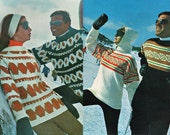 1960s Vintage Knitting Pattern Booklet Villawool Ski Knits No 5 ORIGINALS not PDF