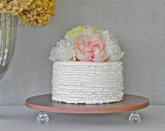 "Rose Gold Cake Stand 12"" Wedding Bling Cake Stand Gold Cake Topper Wedding Event E. Isabella Designs Featured In Martha Stewart Weddings"