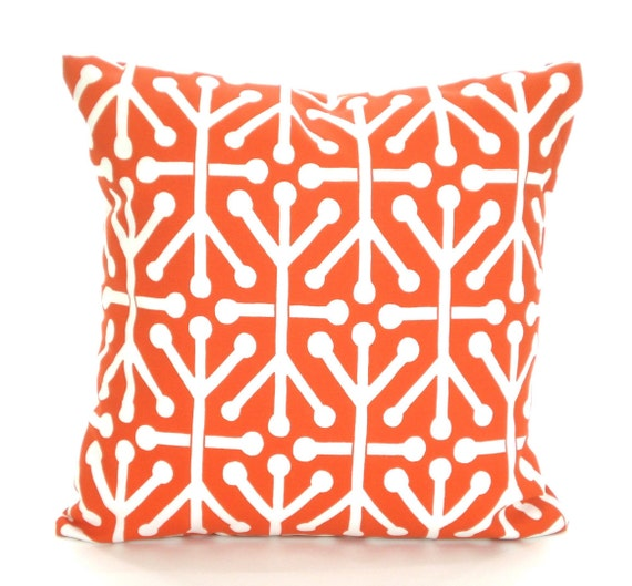 OUTDOOR Orange Pillow Covers Decorative Pillows Cushion