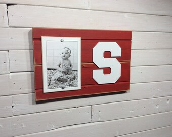 "Stanford University S picture frame holds 4""x6"" photo"