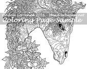 "Art of Meadowhaven Fantasy Coloring Page Download: ""Forest Fantasy Giraffe"""