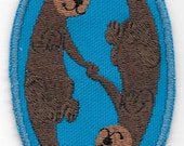 Kawaii Sleeping Otters Patch