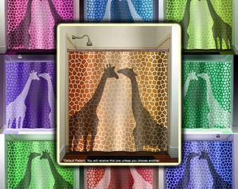 Pattern Giraffe Shower Curtain Bathroom Decor Fabric Kids Bath Window  Curtains Panels Valance Bathmat