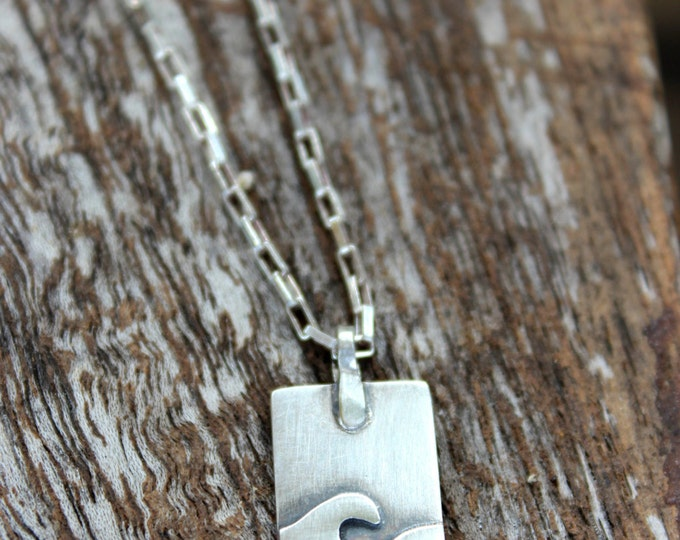 Waves & Rays Necklace - Reversible with sea and sun