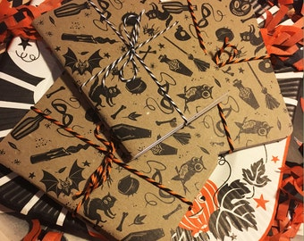 Spook Show Blank Pocket Notebook, set of two