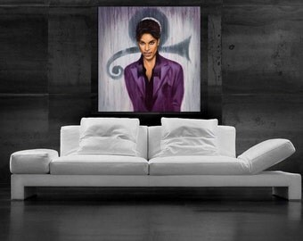 Prince Painting Artwork CANVAS PRINT