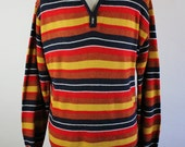 90s Rainbow Sweater / Pullover Sweater / Multi Color Sweater / Soft Wool Sweater Shirt / Vintage /  Mens / Size XL / GOGOVINTAGE
