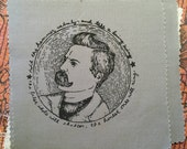 Nietzsche: Screenprinted Patch
