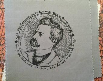 Nietzsche: Screenprinted Patch