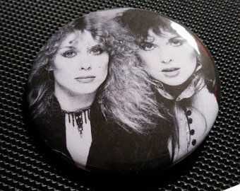 Heart band retro style pin badge pinback button hand pressed 2-1/4 inch pin Ann Nancy Wilson sisters