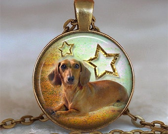 Brown Dachshund necklace, weiner dog necklace, dog lover necklace, dog lover jewelry, Dachshund jewelry key chain key fob