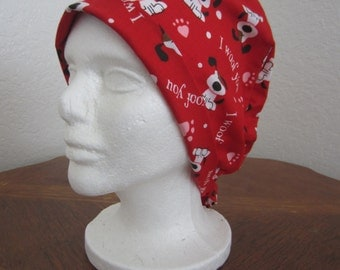 I woof you - Tie-back Surgical Scrub Hat