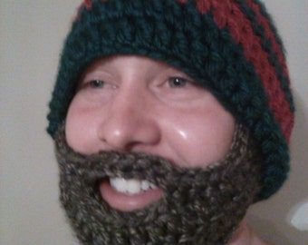 Men's Bearded Slouch Toboggan with removable beard