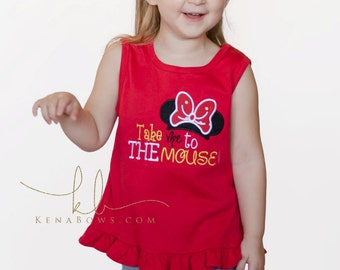 Disney Shirt, Take Me To The Mouse, Minnie, Mickey, Vacation Shirt, 1st Trip to Disney, Mouse Ear Headband