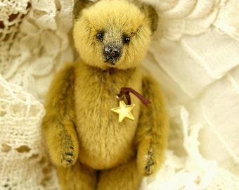Domino, Mini Miniature Artist Teddy Bear by Aerlinn Bears