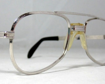 Tart Optical Aviator Eyeglasses Silver Vintage '70s