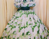 Best Price Ever Custom ANY size civil war-victorian- plantation-dress o'hara's inspired -Gone with wind inspired-green floral magnolia