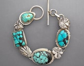 Spiderweb Turquoise with Flowers RESERVED for K