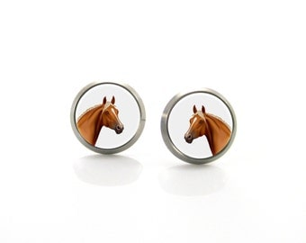 Horse Titanium Post Earrings | Hypoallergenic Sensitive Earring Stud | Titanium Stud Earrings | Funny Girls earrings | Children Earrings