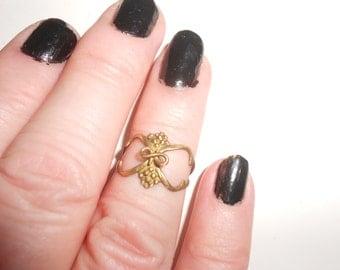 Ring 10K Grape Vine & Cluster Art Nouveau~Edwardian Antique Ladies Size 7