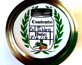Canning Jar Label -  PDF handmade tag  - Mason Jar Label - CanningJar Tag  -  Christmas  Gift  Tag
