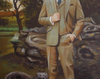 Custom oil portrait, up to 30x40 inches. Real painting on canvas. 100% money-back guarantee