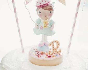Custom Idea~  Sweet Birthday Gift Cake Topper Keepsake Decoration Little Girl Toddler Kids Babies Baby 1ST  or Shower Topper- Gift Keepsake
